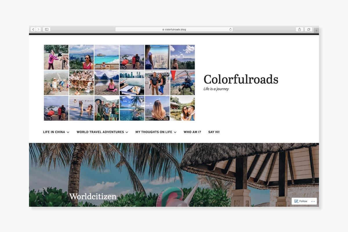 Colorful Roads Blog - készítette: Wndeer Design
