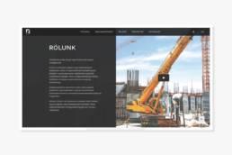 Rekon Construct weboldal - Wndeer Design