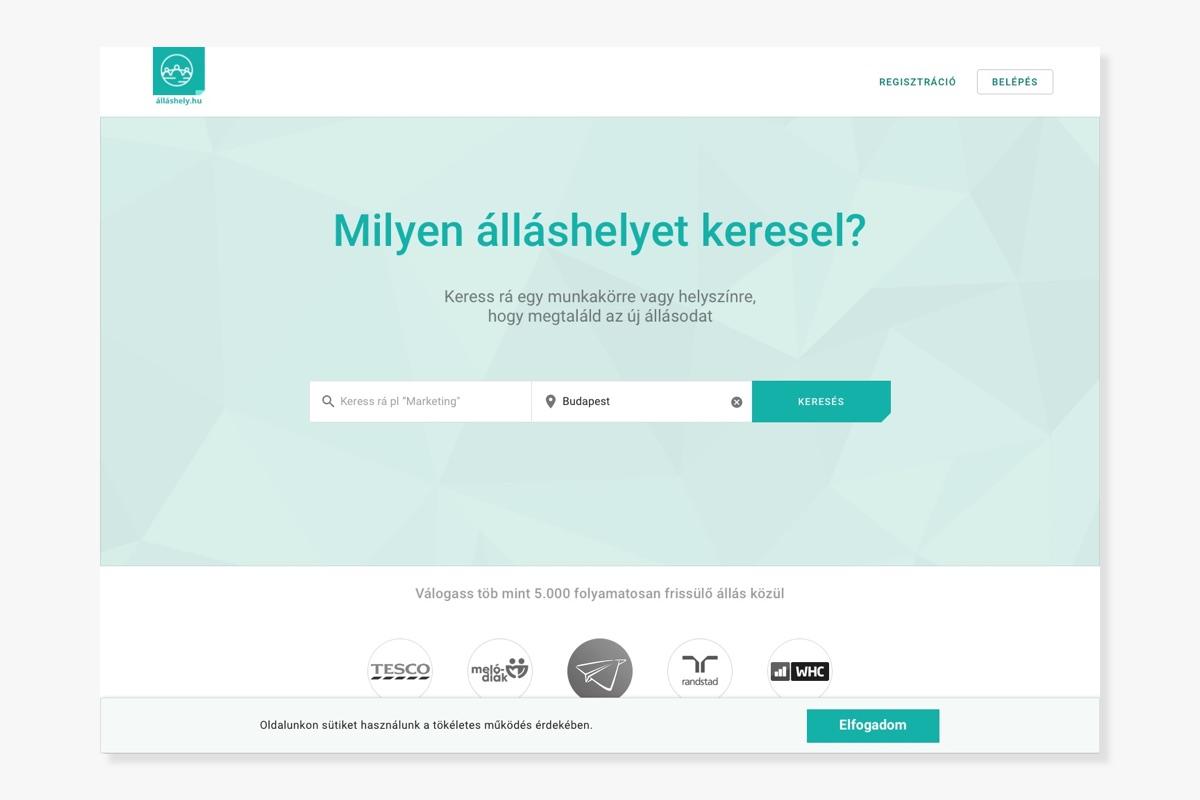 Állásportál webdesign