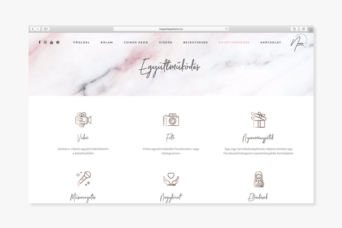 Hogyan legyek jó nő? weboldal - Wndeer Design