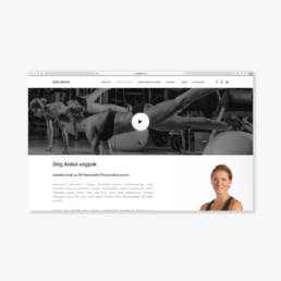 személyi edző weboldal