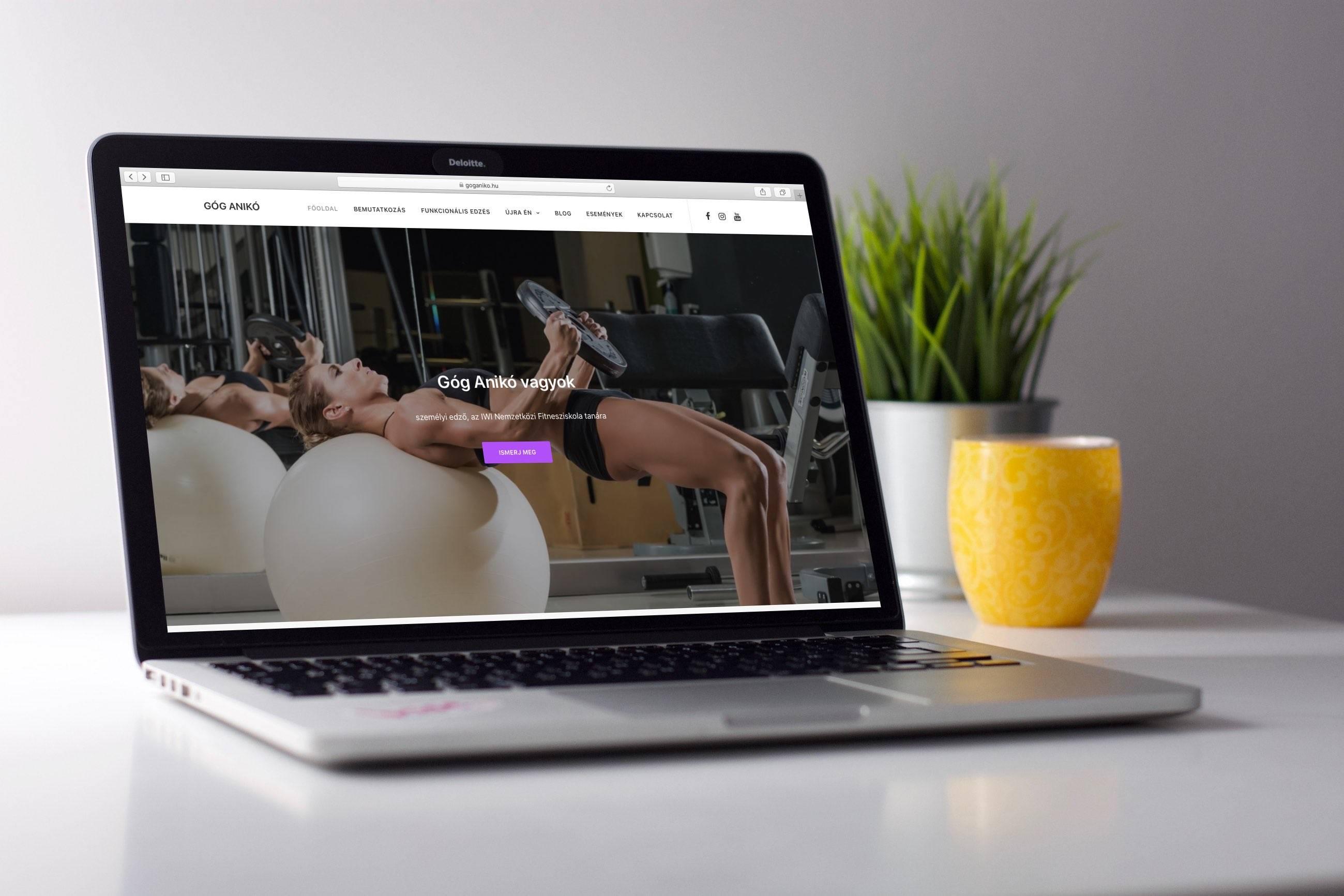 Góg Anikó weboldala / személyi edző weboldal, honlap / Wndeer Design