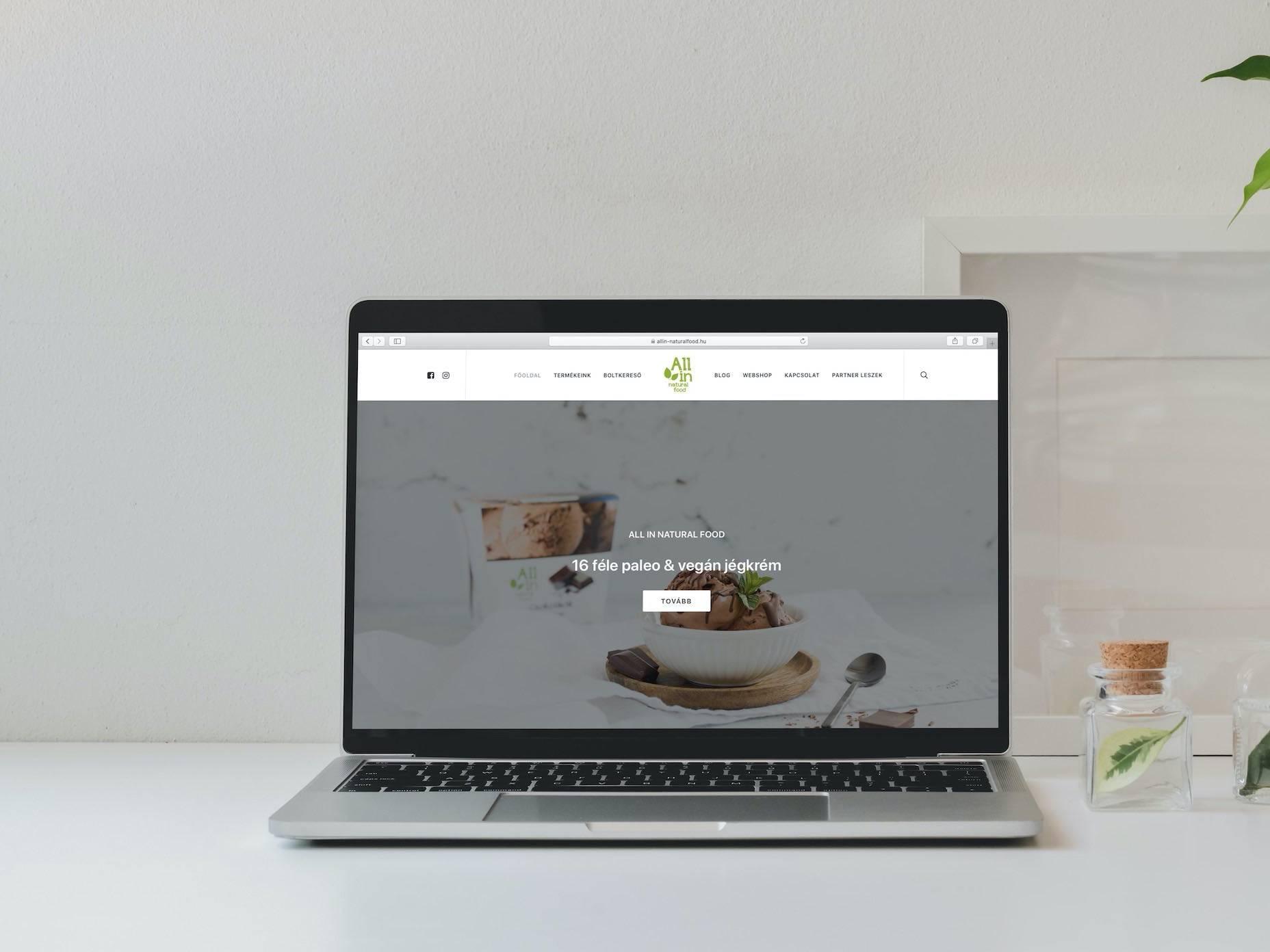webkatalógus ALL IN natural food