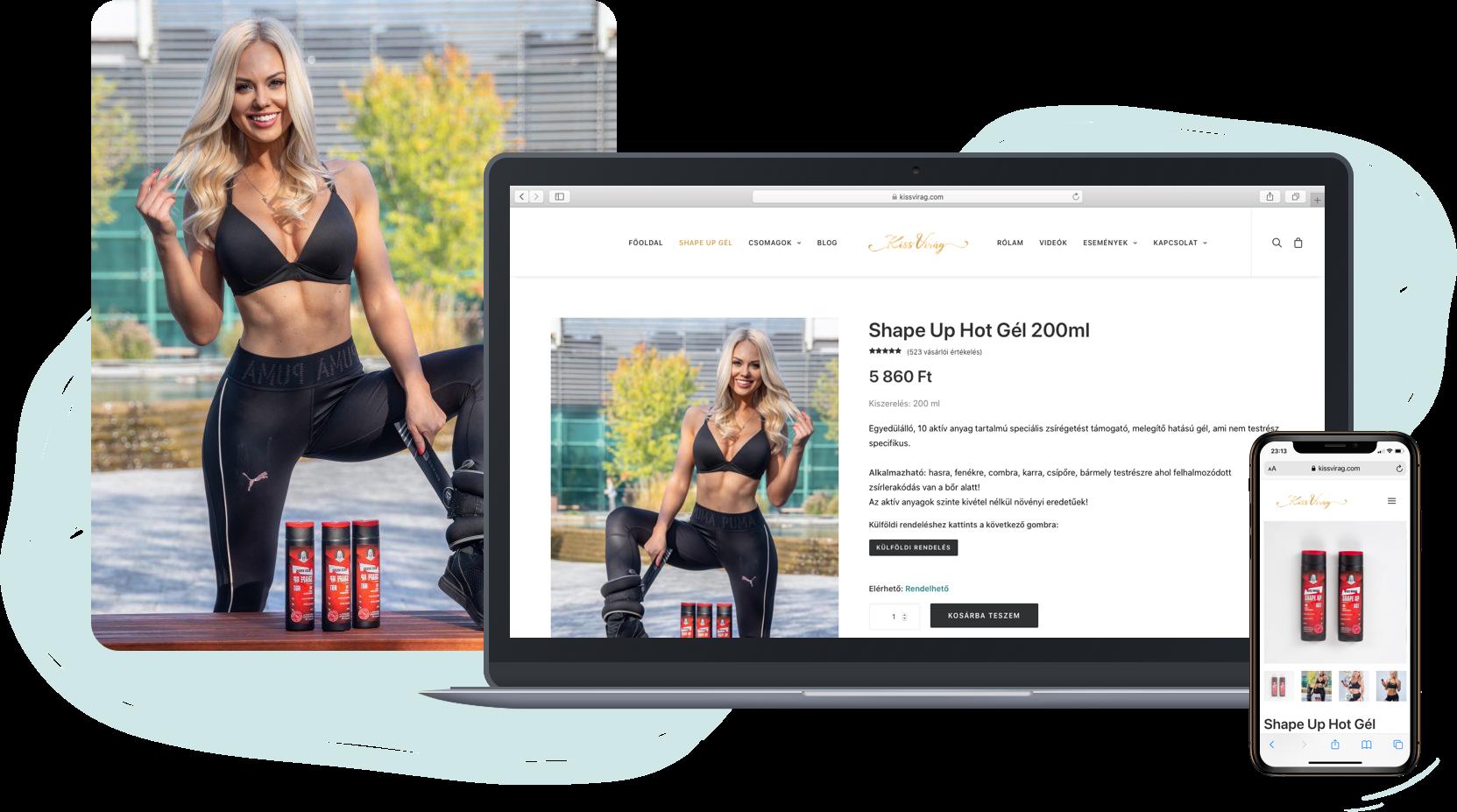 Énmárka weboldal, webshop készítés